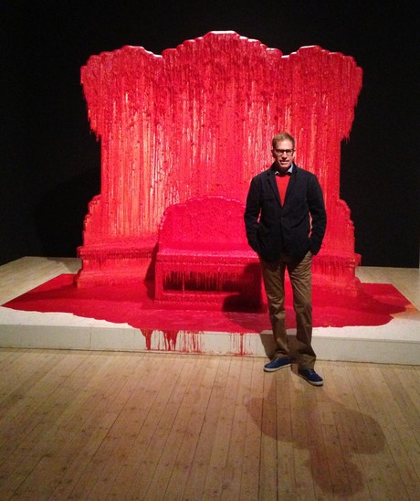 Zhao Zhao throne at the 'Game of Thrones' exhibition